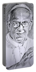 Pope Franciscus Portable Battery Charger by Henryk Gorecki