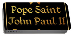 Pope Saint John Paul II Pray For Us Portable Battery Charger