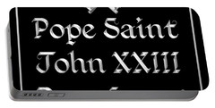 Pope Saint John Xxiii Pray For Us Portable Battery Charger