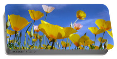Poppies And Blue Arizona Sky Portable Battery Charger by Lucinda Walter