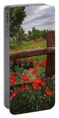 Poppies At The Farm Portable Battery Charger