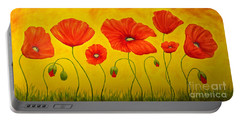 Poppies At The Time Of Portable Battery Charger