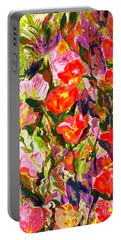 Portable Battery Charger featuring the mixed media Poppies by Beth Saffer