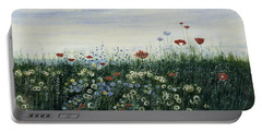 Poppies, Daisies And Other Flowers Portable Battery Charger