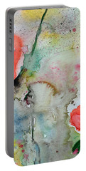 Poppies - Flower Painting Portable Battery Charger by Ismeta Gruenwald