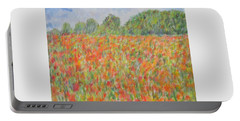 Poppies In A Field In Afghanistan Portable Battery Charger