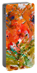 Poppies In A Hurricane Portable Battery Charger by Beverley Harper Tinsley