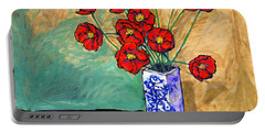 Poppies In A Vase Portable Battery Charger
