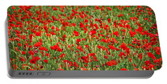 Poppies In Wheat Portable Battery Charger