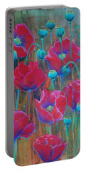 Poppies  Portable Battery Charger by Jani Freimann
