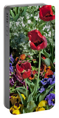Portable Battery Charger featuring the photograph Poppies by Mae Wertz
