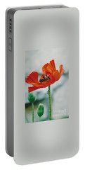 Poppy - 1 Portable Battery Charger by Jackie Mueller-Jones