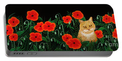 Poppy Cat Portable Battery Charger