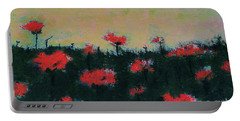Portable Battery Charger featuring the painting Poppy Field by Jacqueline McReynolds