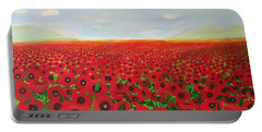 Poppy Fields Portable Battery Charger