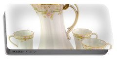 Porcelain Pitcher And Cups Portable Battery Charger
