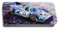 Porsche 917 Lh Larrousse Elford 24 Le Mans 1971 Portable Battery Charger