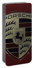Porsche Emblem Portable Battery Charger by Sebastian Musial