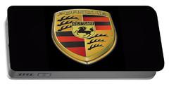 Porsche Logo On Black Portable Battery Charger