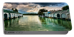 Storm Clouds Over  Port Royal Boathouses In Naples Portable Battery Charger