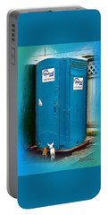 Portable Battery Charger featuring the photograph Porta Puppy Potty... by Sadie Reneau