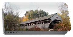 Porter Covered Bridge Portable Battery Charger by Catherine Gagne