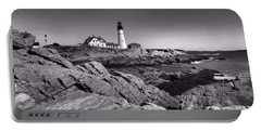 Portland Head Light Portable Battery Charger by Elizabeth Dow