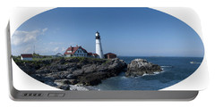 Portland Head Light House Portable Battery Charger by Daniel Hebard
