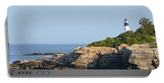 Portland Head Light In Summer Portable Battery Charger