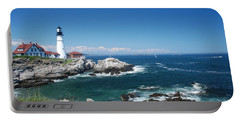 Portland Head Lighthouse Portable Battery Charger by Allen Beatty