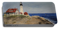 Portland Head Lighthouse In Maine Portable Battery Charger