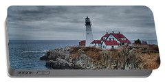 Portable Battery Charger featuring the photograph Portland Headlight 14440 by Guy Whiteley