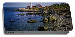 Portland Headlight 37 Oil Portable Battery Charger by Mark Myhaver