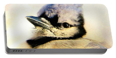 Portrait Of A Blue Jay Portable Battery Charger