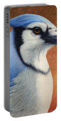 Portrait Of A Bluejay Portable Battery Charger