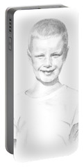 Portrait Of A Boy Portable Battery Charger