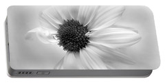 Portrait Of A Daisy Portable Battery Charger by Louise Kumpf