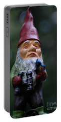 Portrait Of A Garden Gnome Portable Battery Charger