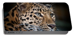 Portrait Of A Leopard Portable Battery Charger