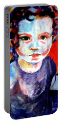 Portrait Of A Little Girl Portable Battery Charger