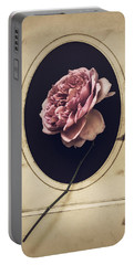 Portrait Of A Rose Portable Battery Charger