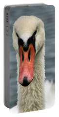 Portrait Of A Swan Portable Battery Charger