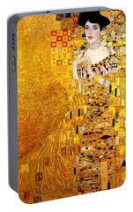 Portrait Of Adele Bloch-bauer Portable Battery Charger by Gustav Klimt