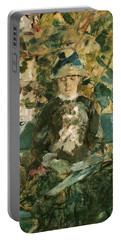 Portrait Of Adele Tapie De Celeyran Portable Battery Charger by Henri de Toulouse-Lautrec
