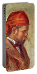 Portrait Of Ambroise Vollard 1868-1939 Oil On Panel Portable Battery Charger