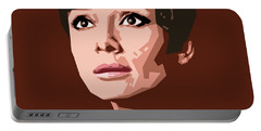Portrait Of Audrey Hepburn Portable Battery Charger