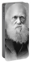 Portrait Of Charles Darwin Portable Battery Charger