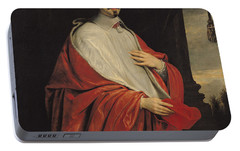 Portrait Of Jules Mazarin Portable Battery Charger by Philippe de Champaigne