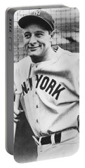 Portrait Of Lou Gehrig Portable Battery Charger