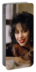 Portrait Of Ofra Haza Portable Battery Charger
